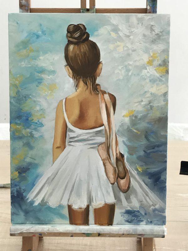 балерина картина маслом купить москва галерея современное искусство живопись подарок балет