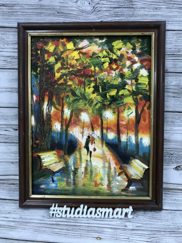картина маслом купить москва интерьер подарок арт русское современное москва пейзаж афремов свидание вдвоем аллея