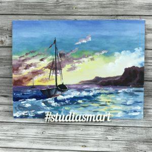 картина маслом интерьер искусство живопись современное купить продать москва подарок море пейзаж