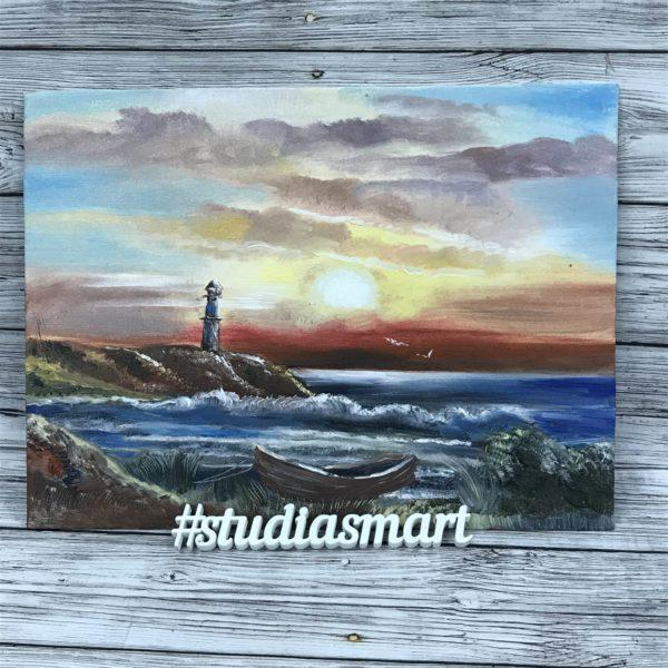 картина маслом интерьер искусство живопись современное купить продать москва подарок морской пейзаж море