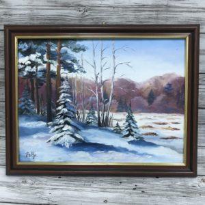 Зимний пейзаж, 2018, худ Валерия Крылова