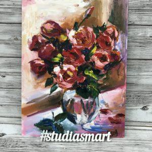 розы букет картина купить галерея интерьер