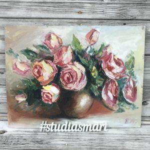 букет роз картина маслом подарок интерьер