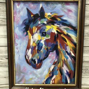 картина маслом купить москва интерьер подарок арт русское современное москва пейзаж лошадь анималистика животные