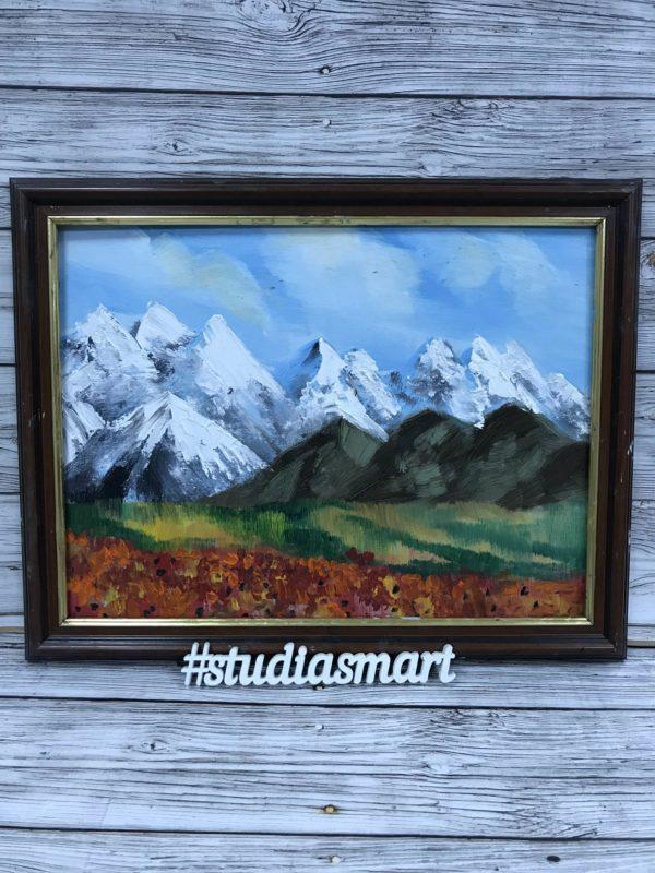картина маслом купить москва интерьер подарок арт русское современное москва пейзаж горы