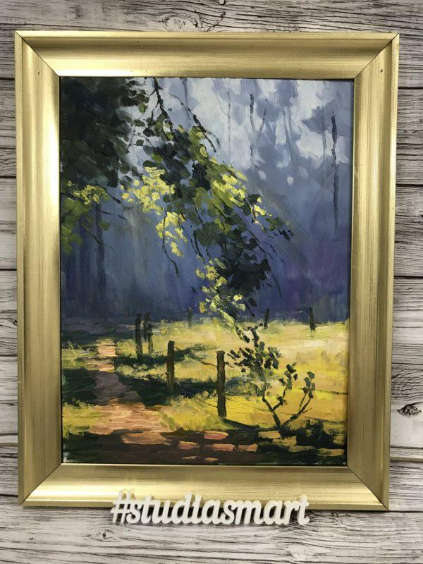картина маслом купить москва интерьер подарок арт русское современное москва пейзаж лес