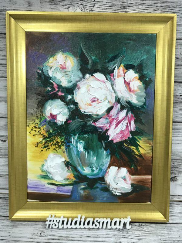 картина маслом купить москва интерьер подарок арт русское современное москва букет роз розы натюрморт