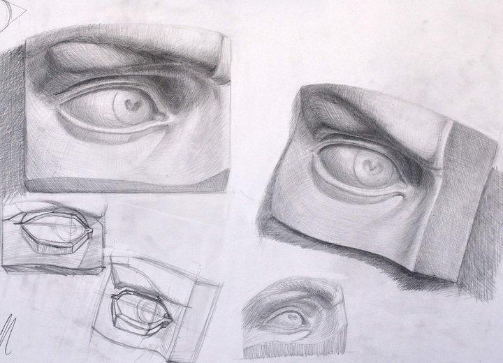 Академический рисунок/ графика/ рисование карандашом с натуры