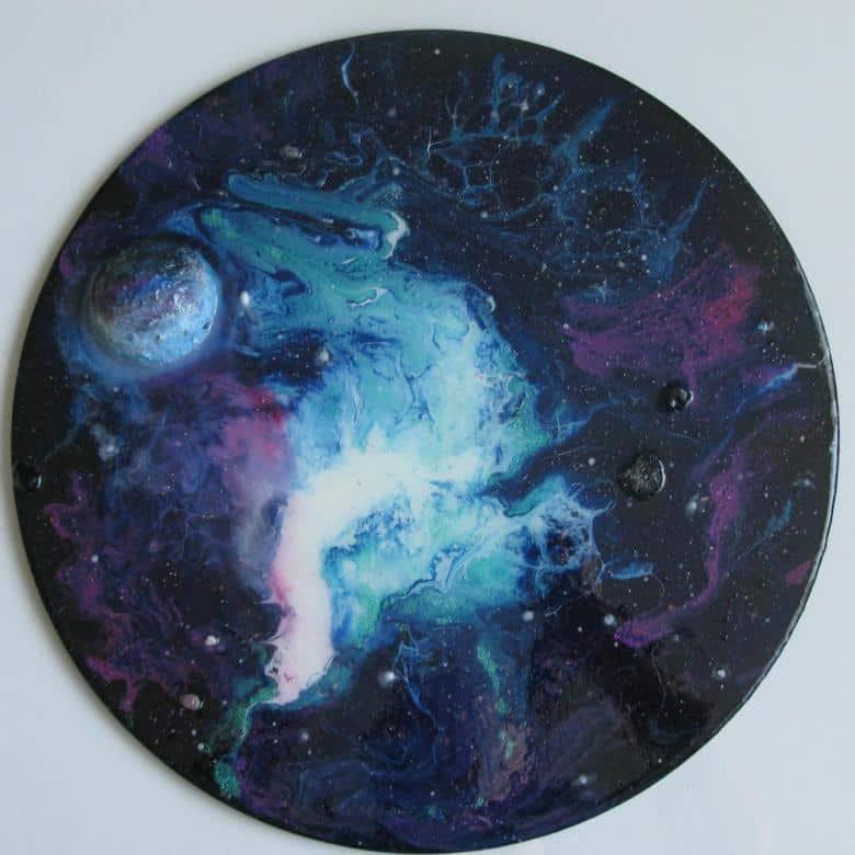Рисование эпоксидной смолой или резин арт (resin art)