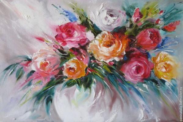 """Арт-вечеринка """"Розы в белой вазе"""" (18+)"""
