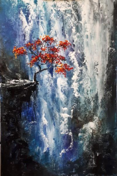 """Арт-вечеринка """"Дерево над водопадом"""" (18+)"""