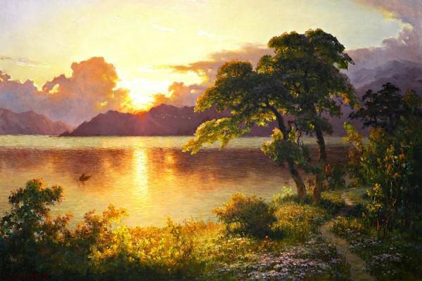 """Арт-вечеринка """"Рассвет на озере"""" (18+)"""
