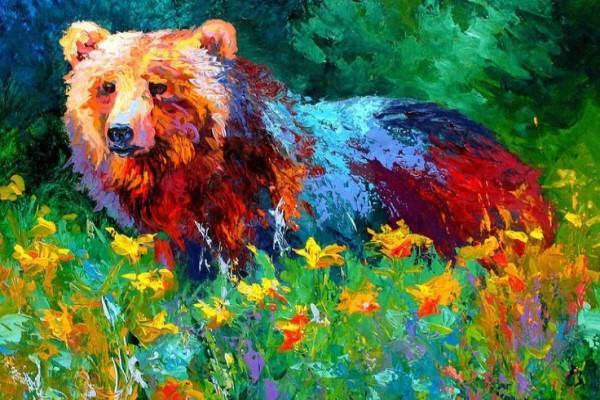 """Мастер-класс масло """"Медведь"""""""