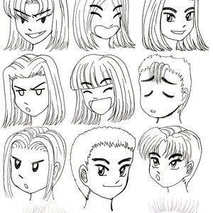 """Курс рисование аниме 1.0 """"Лицо"""""""