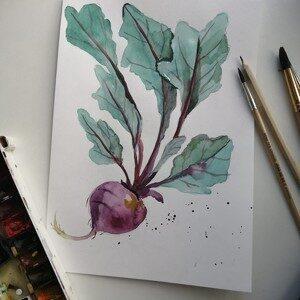 """Курс """"Акварель овощи"""""""