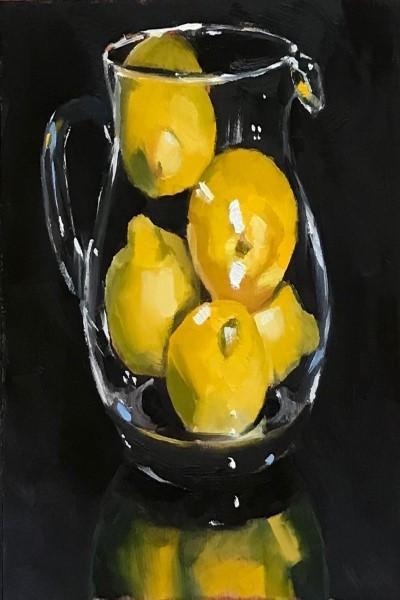 "Мастер-класс масло ""Лимоны в кувшине"" на Мичуринском проспекте"