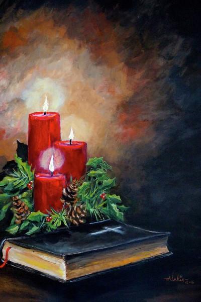 """Мастер-класс масло """"Горящие свечи"""" на Мичуринском проспекте"""