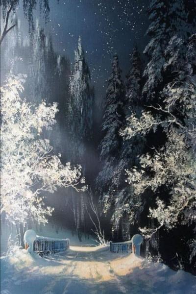 "Мастер-класс масло ""Зимний пейзаж"" на Мичуринском проспекте"