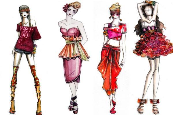 Фешн Скетчинг ( Fashion scatching) на Мичуринском проспекте